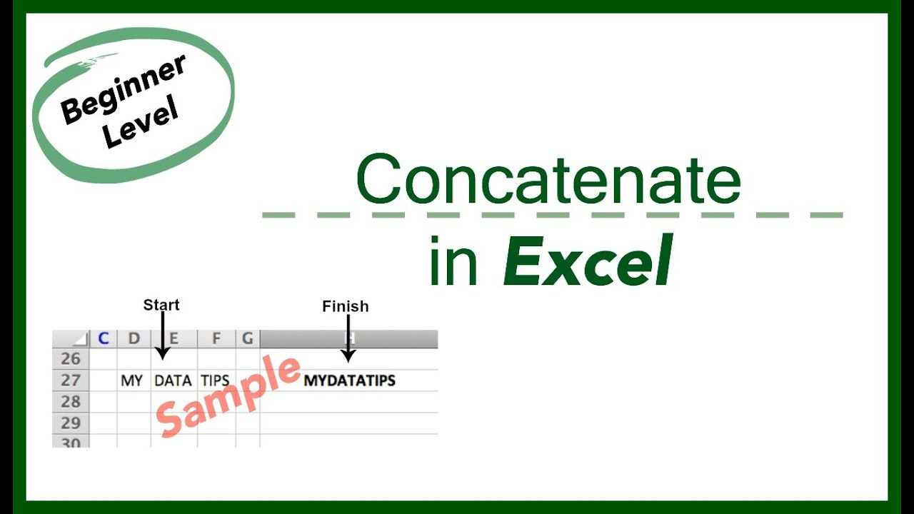 Excel concatenate date in Melbourne