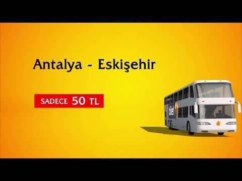 Antalya - Eskişehir Otobüs Bileti Sadece 50 TL Biletexpert.com