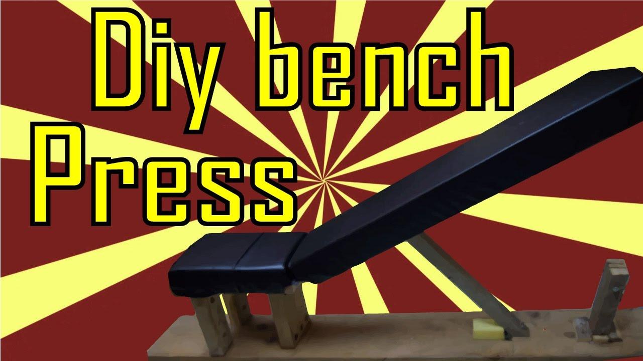 Diy bench press adjustable bodybuilding youtube malvernweather Image collections