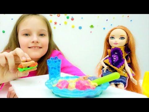 Завтрак #БАРБИ! ВИДЕО для девочек и игры с куклами про школу. #дочкиматери на Tube Girls