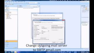 How to set up gmail in Outlook 2007