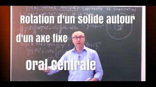 Constante  de gravitation- Oral Centrale MP/PSI/PC