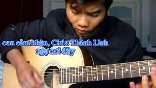 Thiên Chúa ngự-(guitar solo with lyric)