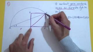 Çemberde Açılar Soru Çözümü Şenol Hoca Matematik