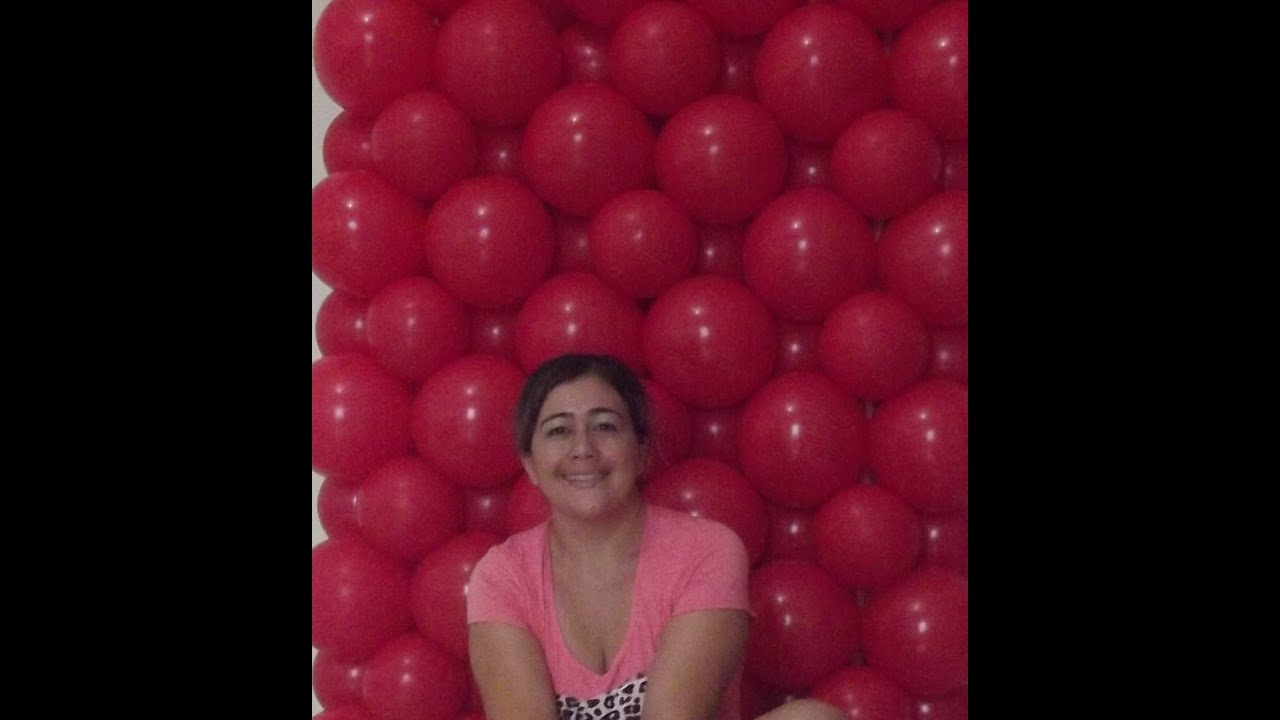 Mural Com Baloes Wall With Balloons Youtube