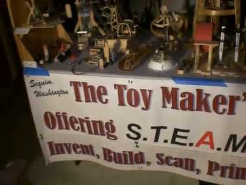Seattle Mini Maker Faire Booth Show & Tell 2015.
