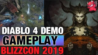 Diablo 4 Blizzcon 2019 Demo Druid, Sorceress, Barbarian Gameplay
