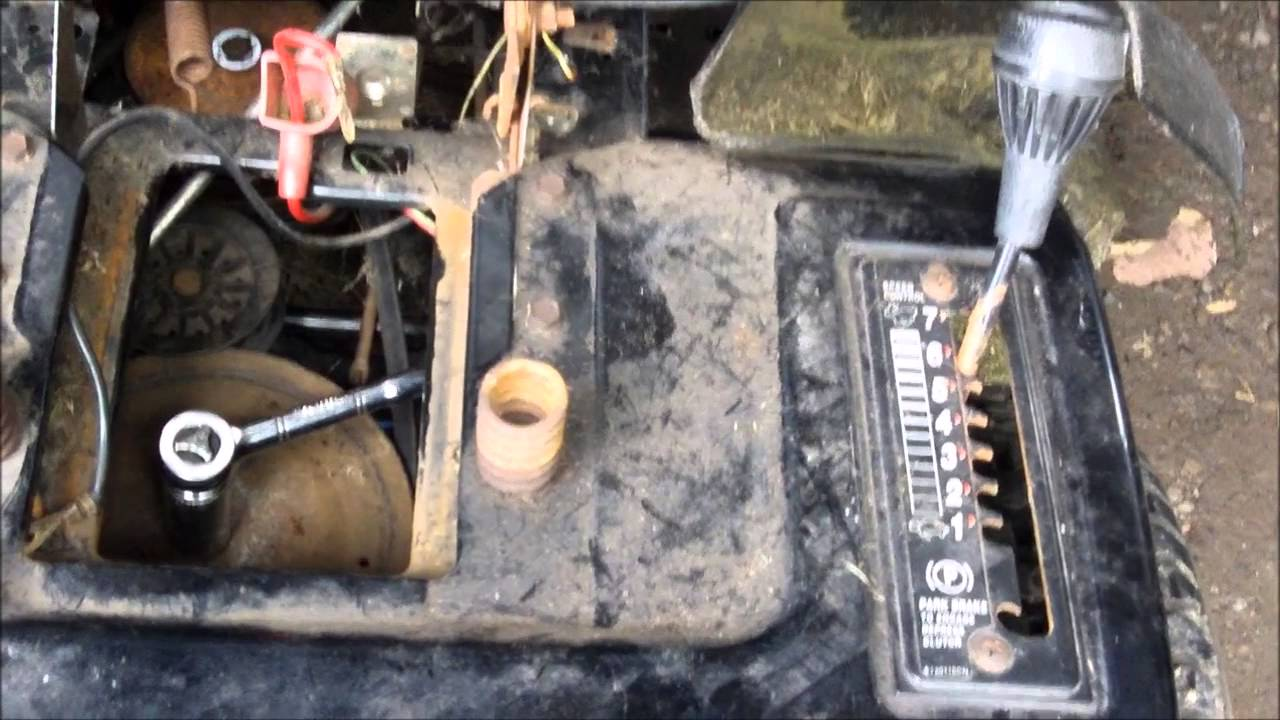 how to change drive belt on yardworks lawn tractor