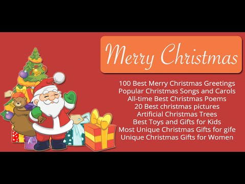 Merry Christmas - Xmas greeting, songs, poem and gift idea - YouTube