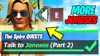 Talk To Joneses (Part 2) & ALL Joneses LOCATIONS - Fortnite