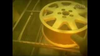 pískování ALU disků - v tryskací komoře