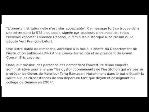 Demande d'enquête administrative sur Tariq Ramadan à Genève