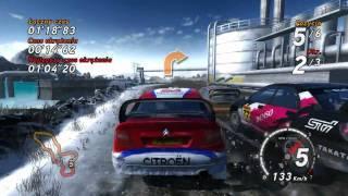 SEGA Rally PC gameplay. INTEL C2D E7200 + ASUS EAH5770 Voltage Tweak
