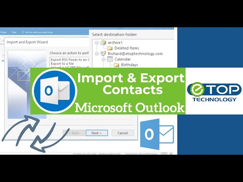 💻Import and Export Contacts in Outlook 2016 👇☝
