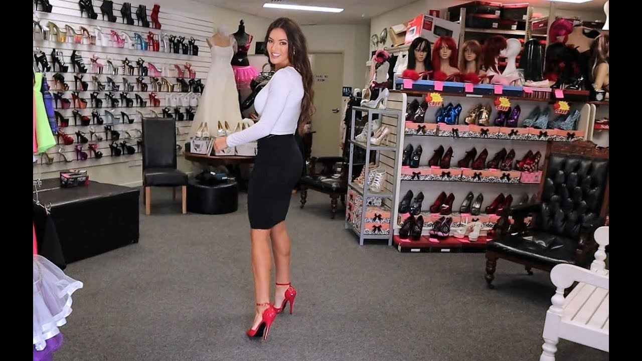 Amanda Blanks Unboxes Some Red Pointed Toe Pleaser 6 Inch Single Sole High Heel Shoes