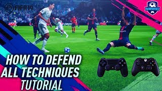 FIFA 19 DEFENDING TUTORIAL! BEST WAY TO TACKLE, JOCKEY & APPLY PRESSURE! HOW TO DEFEND