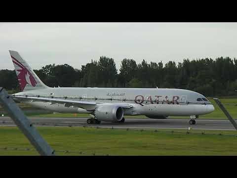 Qatar Airways Boeing 787-8 Dreamliner At Birmingham Airport