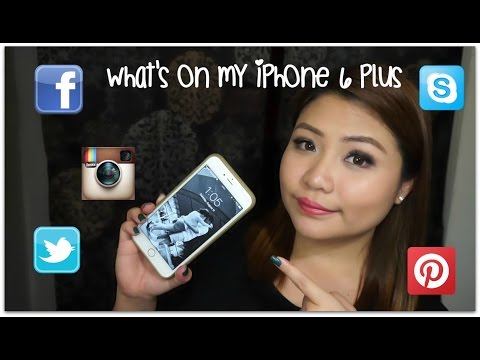 What's on my iPhone 6 Plus + How I edit my SELFIE! | TAGALOG