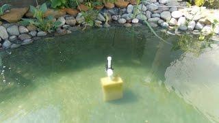 Как сделать фонтан с фильтром в пруд !