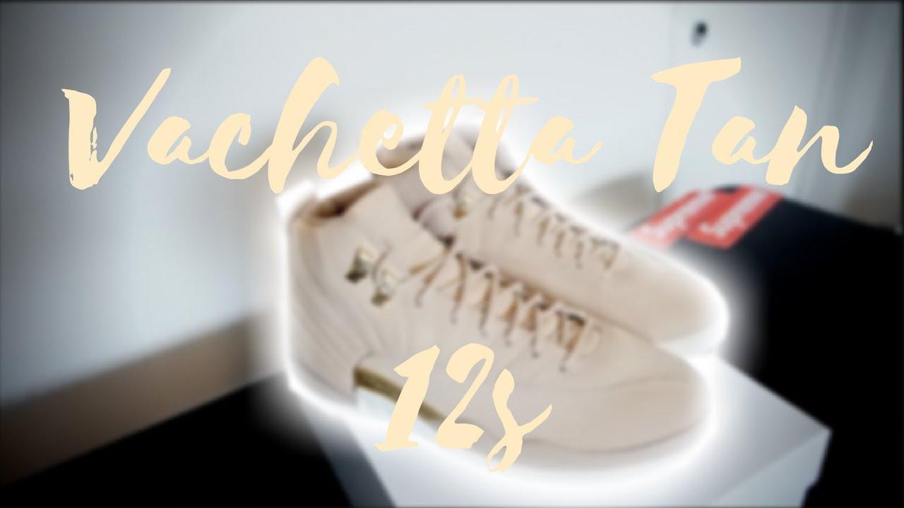 79798e443d03 Air Jordan 12 Vachetta Tan Unboxing - YouTube