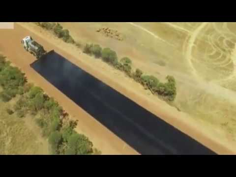 Как кладут асфальт в австралии видео