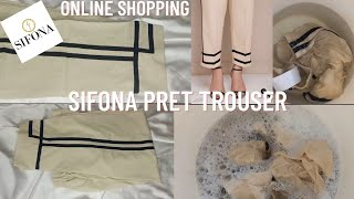 Sifona Online Shopping ~ Pret Trouser (Price, Stitching & Lawn Quality)