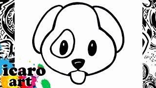 como dibujar un emoji | how to draw emojis | perro | como desenhar um cachorro