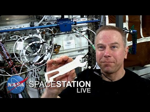 Space Station Live: 3-D Printing of a Student Design