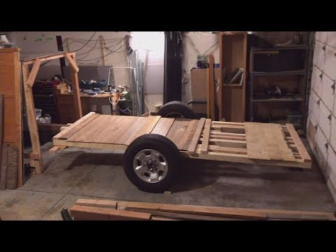Wooden Trailer Build with 8-lug hubs