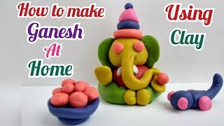 | Clay Art | How to Make Colourful Eco Friendly Ganesha at Home | Happy Dipawali |