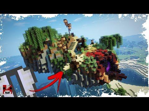Minecraft Timelapse - Epic FLOATING ELYTRA BASE! - (World Download