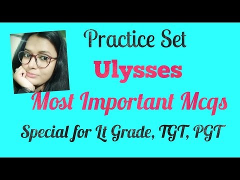 Ulysses Objective Type Questions/Practice Set/Mcqs