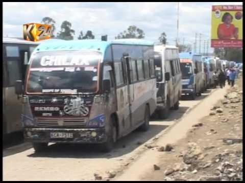 Matatu operators protest unfair allocation of space in the new bus terminus,Kajiado County