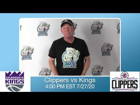 Los Angeles Clippers vs Sacramento Kings 7/27/20 Free NBA Pick and Prediction NBA Betting Tips
