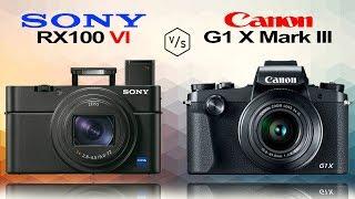 видео Canon G1 X III против Sony Cybershot RX100 V