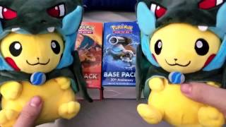opening 3 base pack korean xy evolutions booster boxes part 1