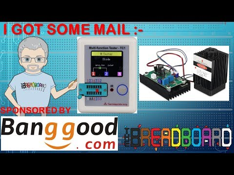 Component Tester and Laser Diode in the Banggood Mail bag