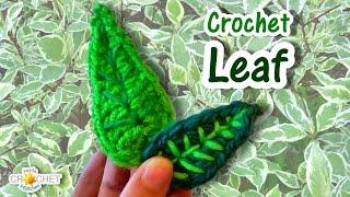 Leaf Crochet Pattern & Tutorial - Applique & Accessories