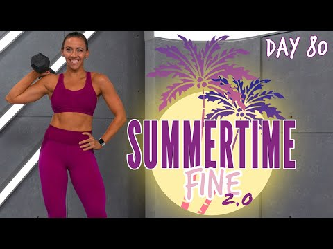 45 Minute Full Body Strong Workout Sports Theme! | Summertime Fine 2.0 Day 80