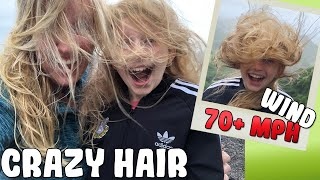 Messy Hair Don't Care - Windiest Place in the World!