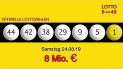 Lottozahlen 24.08.19 Lotto6aus49