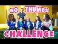 No Thumbs Challenge!  (mattybraps Vs Haschak Sisters Vs Sarah Grace!) video