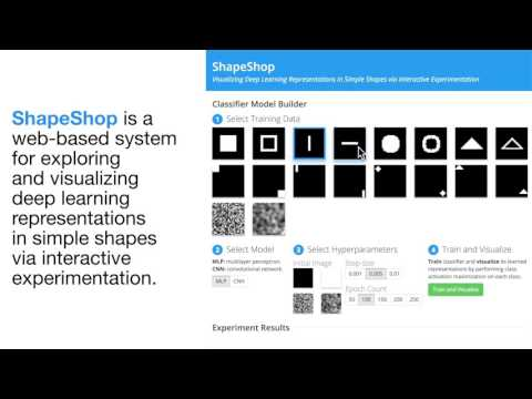 ShapeShop: Towards Understanding Deep Learning Representations via Interactive Experimentation