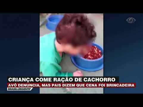 Criança é gravada comendo ração de cachorro em Goiás