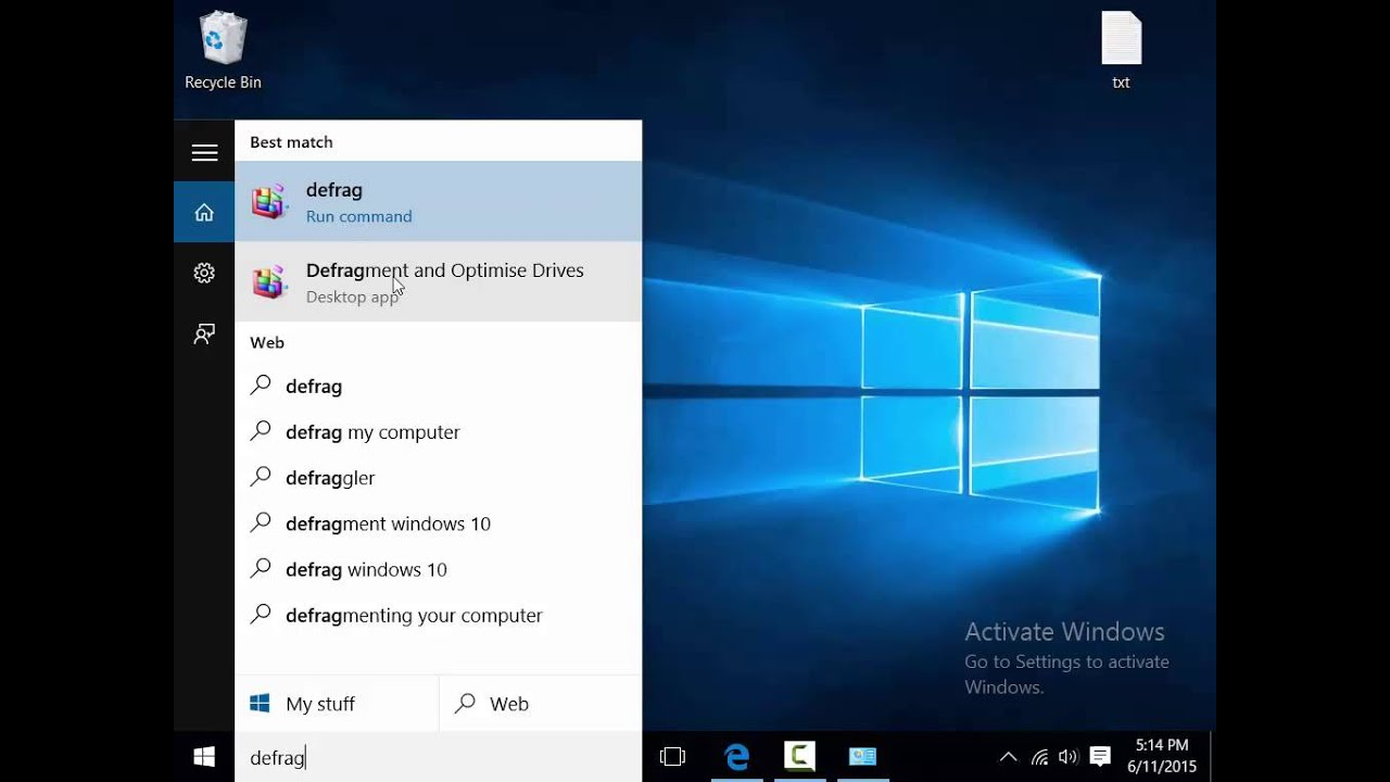 how to defragment drive in windows 10