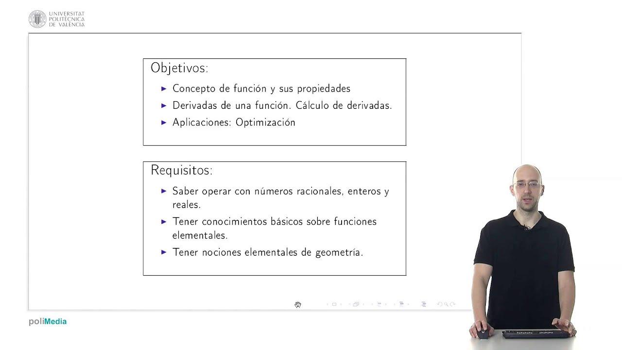 Bases Matemáticas: Derivadas | UPValenciaX on edX | Course About ...