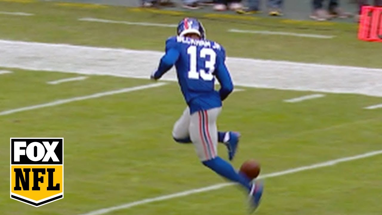 Odell Beckham Jr Shows Off Rainbow Kick Soccer Skills At New York Giants Game Youtube