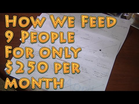 How We Feed 9 People For $250 Per Month