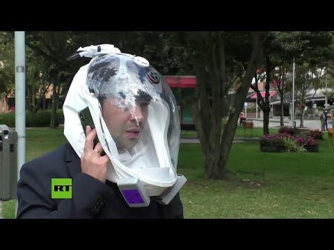 Ingenieros colombianos diseñan una burbuja de bioseguridad similar al casco de un astronauta