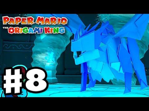 Water Vellumental Boss Fight! – Paper Mario: The Origami King – Gameplay Walkthrough Part 8